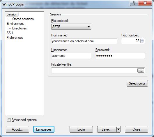 FAQ - How to setup my SFTP